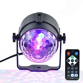 olcso Színpadi LED fények-1set 3W 250lm 3 LED Távirányító Tompítható Könnyű beszerelni Színpadi LED fények RGB Kereskedelmi