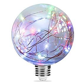 voordelige LED-gloeilampen-1pc 3 W LED-gloeilampen 250 lm E27 G95 33 LED-kralen Geïntegreerde LED Starry Blauw Roze Meerkleurig 85-265 V / RoHs