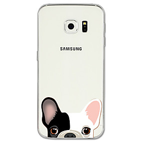 voordelige Galaxy S6 Edge Plus Hoesjes / covers-hoesje Voor Samsung Galaxy S8 Plus / S8 / S7 edge Patroon Achterkant Hond / dier Zacht TPU