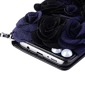 Недорогие Чехлы и кейсы для Galaxy Note 8-Кейс для Назначение SSamsung Galaxy Note 8 / Note 5 / Note 4 Кошелек / Бумажник для карт / со стендом Чехол Цветы Твердый Кожа PU
