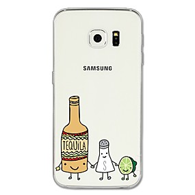 voordelige Galaxy S6 Edge Plus Hoesjes / covers-hoesje Voor Samsung Galaxy S8 Plus / S8 / S7 edge Patroon Achterkant Cartoon / Fruit Zacht TPU