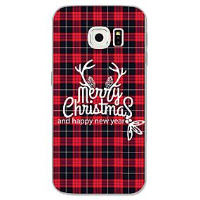 voordelige Galaxy S6 Edge Plus Hoesjes / covers-hoesje Voor Samsung Galaxy S8 Plus / S8 / S7 edge Patroon Achterkant Kerstmis Zacht TPU