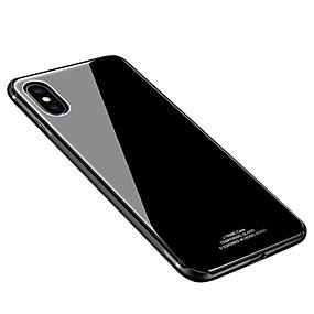 economico Acquista per Modello di telefono-Custodia Per Apple iPhone X / iPhone 8 Plus / iPhone 8 Resistente agli urti / Ultra sottile Per retro Tinta unita Resistente Vetro temperato