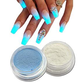 abordables Soin des Ongles-2pcs Poudre acrylique / Nail Glitter Brille & Scintille / Lumineux Nail Art Design