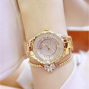 ieftine Cuarț ceasuri-Pentru femei Ceasuri de lux Ceas de Mână Diamond Watch Quartz femei Ceas Casual Analog Auriu Argintiu / Oțel inoxidabil / Oțel inoxidabil / Japoneză / Japoneză