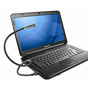 billiga Skrivbordslampor-1 sts vit vit USB nattlampa ledde läslampa med anteckningsblock