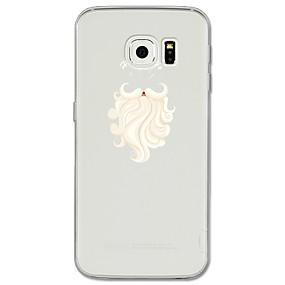 voordelige Galaxy S6 Edge Plus Hoesjes / covers-hoesje Voor Samsung Galaxy S8 Plus / S8 / S7 edge Patroon Achterkant Cartoon / Kerstmis Zacht TPU