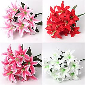 levne Umělé květiny-Umělé květiny 2 Větev Moderní styl Svatba Lilie Květina na stůl