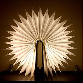 رخيصةأون مصابيح ليد مبتكرة-1PC كتاب الجدول مصباح الليل بطاريات تعمل بالطاقة قابل للطي / قابلة لإعادة الشحن / ضوء الزخرفية