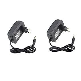olcso Tápegységek-2pcs 12 V US / EU ABS + PC Power adapter a LED Strip fényhez