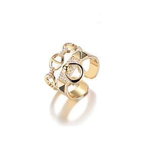 olcso A szerkesztő ajánlata-Női mandzsetta Ring 1 Arany Fém Ötvözet Geometric Shape Koreai Ajándék Napi Ékszerek Mértani