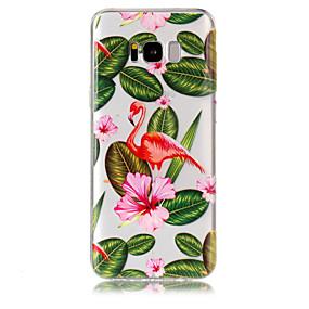 billiga Galaxy S7 Skal / fodral-fodral Till Samsung Galaxy S8 Plus / S8 / S7 edge Genomskinlig / Mönster Skal Flamingo Mjukt TPU