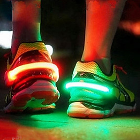abordables Eclairages LED de nuit-hkv® led chaussure lumineuse clip lumière nuit avertissement sécurité vélo vélo course à pied sports drop shipping drop ship