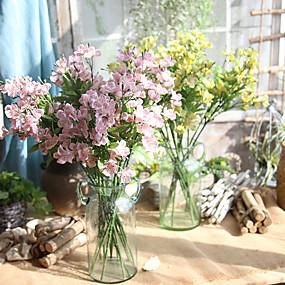Χαμηλού Κόστους Τεχνητά λουλούδια-Ψεύτικα λουλούδια 5 Κλαδί Ευρωπαϊκό Ορχιδέες Λουλούδι για Τραπέζι