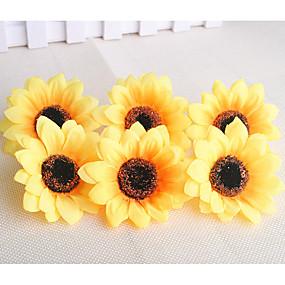 olcso Művirágok-Művirágok 10 Ág Modern Kortárs Rusztikus Stílus Napraforgók Asztali virág