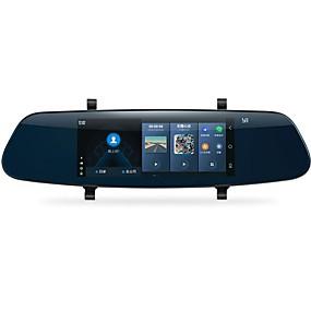 hesapli DVR samochodowe-YI YI 1280 x 480 Araba DVR'si 140 Derece Geniş açı 6.95 inç Kapasitif Ekran Dash Cam ile IOS APP / Android APP / WIFI Hayır Araba Kaydedici / GPS / park Modu / Dahili Hoparlör / Döngü döngüsü kaydı