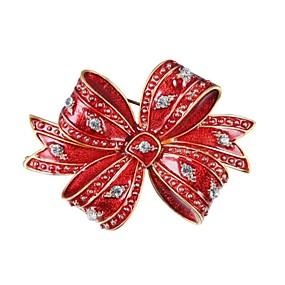 olcso Karácsonyi ékszerek-Női Melltűk Csokornyakkendő hölgyek Cirkonium Arannyal bevont Bross Ékszerek Piros Kompatibilitás Karácsony Új Év