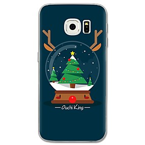 voordelige Galaxy S6 Edge Plus Hoesjes / covers-hoesje Voor Samsung Galaxy S8 Plus / S8 / S7 edge Patroon Achterkant Boom / Kerstmis Zacht TPU