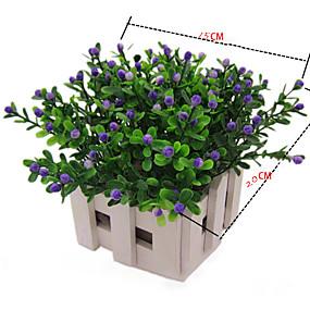 olcso Művirágok-Művirágok 6 Ág minimalista stílusú Rusztikus Stílus Növények Asztali virág