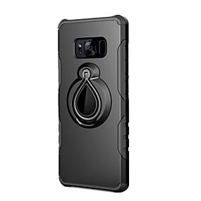voordelige Galaxy S7 Hoesjes / covers-hoesje Voor Samsung Galaxy S8 Plus / S8 / S7 edge Schokbestendig / Ringhouder Achterkant Effen Hard PC