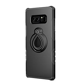 Недорогие Чехлы и кейсы для Galaxy Note 8-Кейс для Назначение SSamsung Galaxy Note 8 Защита от удара / Кольца-держатели Кейс на заднюю панель Однотонный Твердый ПК