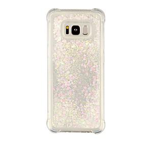 voordelige Galaxy S7 Edge Hoesjes / covers-hoesje Voor Samsung Galaxy S8 Plus / S8 / S7 edge Schokbestendig / Stromende vloeistof / Transparant Achterkant Transparant / Glitterglans Zacht TPU