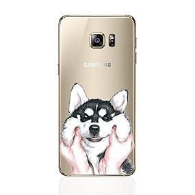 voordelige Galaxy S6 Edge Plus Hoesjes / covers-hoesje Voor Samsung Galaxy S8 Plus / S8 / S7 edge Patroon Achterkant Hond Zacht TPU
