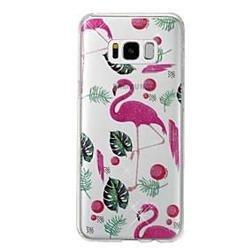 billiga Galaxy S7 Skal / fodral-fodral Till Samsung Galaxy S8 Plus / S8 / S7 edge IMD / Mönster Skal Flamingo / Glittrig Mjukt TPU