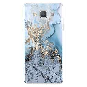cheap Galaxy A8 Cases / Covers-Case For Samsung Galaxy A3(2017) / A5(2017) / A7(2017) Pattern Back Cover Lines / Waves / Marble Soft TPU