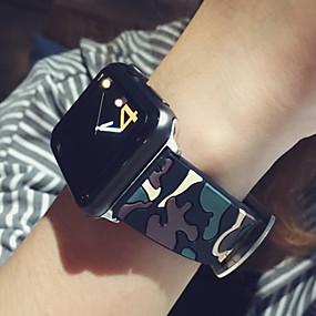 tanie Kupuj wg modelu telefonu-Watch Band na Apple Watch Series 4/3/2/1 Jabłko Pasek sportowy Silikon Opaska na nadgarstek