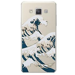 voordelige Galaxy A7(2016) Hoesjes / covers-hoesje Voor Samsung Galaxy A3 (2017) / A5 (2017) / A7 (2017) Patroon Achterkant Lijnen / golven Zacht TPU