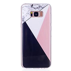 Недорогие Чехлы и кейсы для Galaxy S5 Mini-Кейс для Назначение SSamsung Galaxy S8 Plus / S8 / S7 edge IMD Кейс на заднюю панель Мрамор Мягкий ТПУ