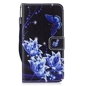 voordelige Galaxy J5(2017) Hoesjes / covers-hoesje Voor Samsung Galaxy J5 (2017) / J3 (2017) Portemonnee / Kaarthouder / met standaard Volledig hoesje Vlinder Hard PU-nahka