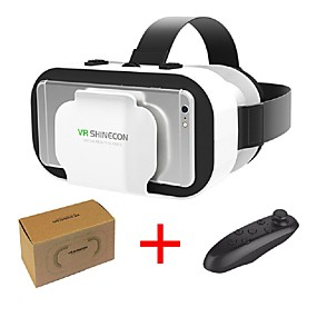 olcso VR Glasses-vr shinecon 5,0 szemüveg virtuális valóság 3d szemüveg 4,7 - 6,0 hüvelykes telefonnal vezérlővel