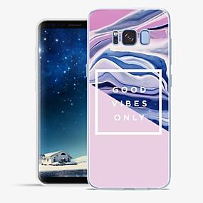 voordelige Galaxy S7 Hoesjes / covers-hoesje Voor Samsung Galaxy S8 Plus / S8 / S7 edge Patroon Achterkant Lijnen / golven / Marmer Zacht TPU