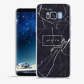 voordelige Galaxy S6 Edge Plus Hoesjes / covers-hoesje Voor Apple / Samsung Galaxy S8 Plus / S8 / S7 edge Patroon Achterkant Woord / tekst / Marmer Zacht TPU