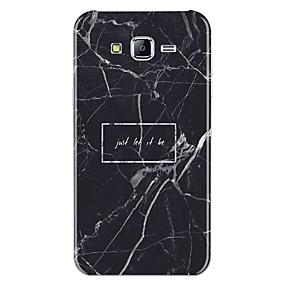 voordelige Galaxy J5 Hoesjes / covers-hoesje Voor Samsung Galaxy J7 (2017) / J7 (2016) / J7 Patroon Achterkant Woord / tekst / Marmer Zacht TPU