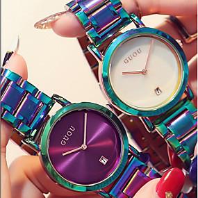 ieftine Cuarț ceasuri-Pentru femei femei Ceas de Mână Quartz Casual Rezistent la Apă Analog Alb Negru Mov / Doi ani / Oțel inoxidabil / Oțel inoxidabil / Japoneză / Calendar