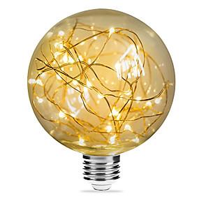 olcso Dekorációs izzók-1db 3 W Izzószálas LED lámpák 200 lm E26 / E27 G95 33 LED gyöngyök SMD Dekoratív Csillagos Karácsonyi esküvői dekoráció Meleg fehér 85-265 V / RoHs
