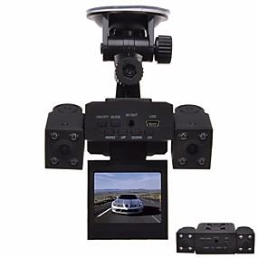 Недорогие Видеорегистраторы для авто-1280 x 480 Автомобильный видеорегистратор Широкий угол 2 дюймовый Капюшон с Ночное видение 8 инфракрасных LED Автомобильный рекордер / 2.0