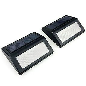 Χαμηλού Κόστους Ηλιακά φώτα LED-2pcs 6 οδήγησε αδιάβροχο τοίχο οδήγησε ηλιακό νυχτερινό φως pir αισθητήρας κίνησης auto swith ηλιακός λαμπτήρας βεράντα δρόμο φράχτη φως κήπο