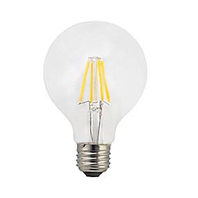olcso LED nagykereskedelem-1db 4 W 360 lm E27 Izzószálas LED lámpák G80 4 LED gyöngyök COB LED fény Meleg fehér 220-240 V / RoHs