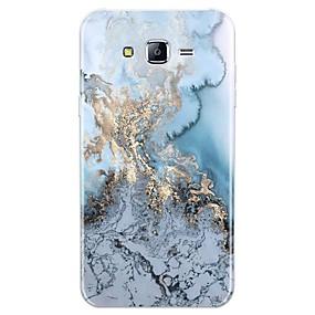 voordelige Galaxy J7 Hoesjes / covers-hoesje Voor Samsung Galaxy J7 (2017) / J7 (2016) / J7 Patroon Achterkant Lijnen / golven / Marmer Zacht TPU