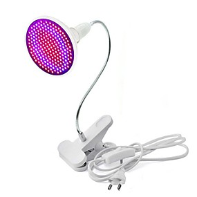 cheap Grow Lights-Grow Light LED Plant Growing Light 20W 85-265V / 1800 lm E26 / E27 200 LED Beads SMD 2835 Decorative Flexible Lamp Holder Clip Red Blue RoHS FCC