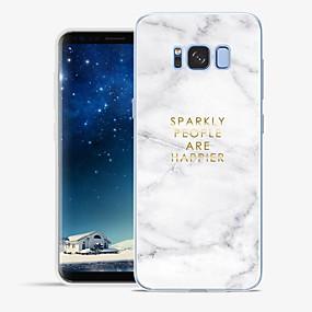 voordelige Galaxy S6 Edge Plus Hoesjes / covers-hoesje Voor Samsung Galaxy S8 Plus / S8 / S7 edge Patroon Volledig hoesje Woord / tekst / Marmer Zacht TPU
