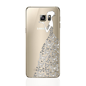 voordelige Galaxy S6 Edge Plus Hoesjes / covers-hoesje Voor Samsung Galaxy S8 Plus / S8 / S7 edge Patroon Achterkant Sexy dame Zacht TPU