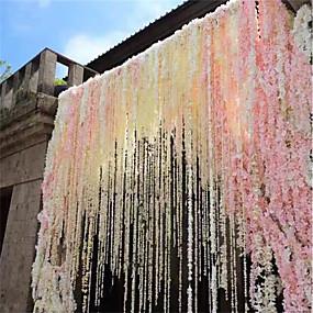 olcso Művirágok-1db 30cm otthoni divat mesterséges hortenzia párt romantikus esküvői dekoratív selyem koszorúk mesterséges virágok selyem wisteria