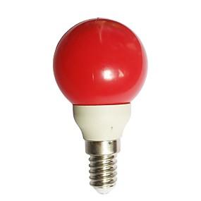 olcso Dekorációs izzók-1db 0.5 W LED gömbbúrás izzók 15-25 lm E14 G45 7 LED gyöngyök Dip LED Dekoratív Piros 100-240 V / RoHs