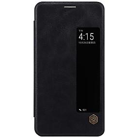 Недорогие Чехлы и кейсы для Huawei Mate-Кейс для Назначение Huawei Mate 10 / Mate 10 pro / Huawei Бумажник для карт / с окошком / Флип Чехол Однотонный Твердый Кожа PU