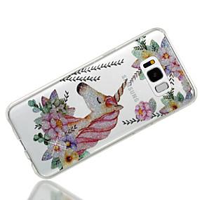 voordelige Galaxy S7 Hoesjes / covers-hoesje Voor Samsung Galaxy S8 Plus / S8 / S7 edge IMD / Patroon Achterkant Eenhoorn / Glitterglans Zacht TPU
